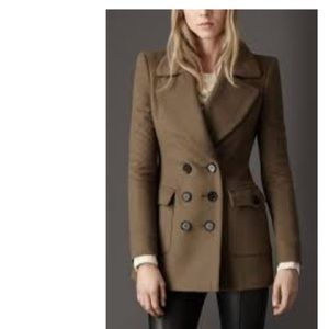 BURBERRY LONDON Cashmere Wool Tan Coat